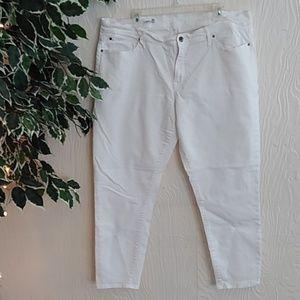 GAP white jeans legging Jean. Skinny 35 regular